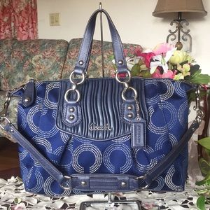 Coach ashley op art gathered signature Bag (FIRM)